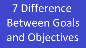difference between goals and objectives 7 difference between goals and objectives