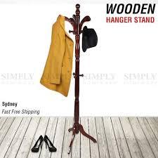 Coat Stand Rack Wooden Coat Stand Rack Clothes Hanger Hat Tree Vintage Jacket Bag Umbr 91