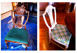 upholstered dining room chairs diy. dining room chair before and after wood to white upholstered chairs diy