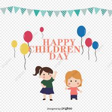 สุขสันต์วันเด็กเด็กผู้หญิงสองคน กระโดดดีใจ  สีแดงสีเหลืองริบบิ้นสีเขียวสีแดงสีเหลือง, สีแดงและสีเหลือง, สุขสันต์วันเด็ก,  สองสาวภาพ PNG และ PSD สำหรับดาวน์โหลดฟรี