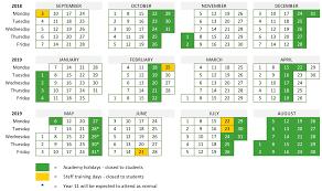 Term dates | Trinity Academy Halifax