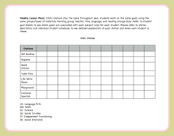 behavior intervention plan template lesson plan template the autism helper