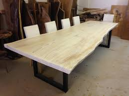 Redwood Slab Dining Table Live Edge Dining Table White Dining Table Redwood