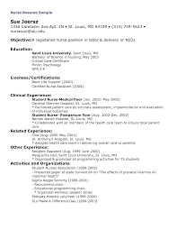 Chic New Registered Nurse Graduate Resume On Nursing Sample Resume