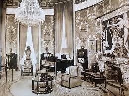 Salon of the Htel du Riche Collectionneur from the 1925 International  Exposition of Decorative Arts, furnished by mile-Jacques Ruhlmann,  painting by Jean ...