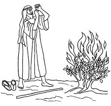 Small Picture Burning Bush Moses Coloring Pages NetArt