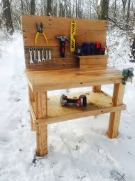 how to make pallet furniture. Best Kids Pallet Workbench Toy And Image Of How To Make A Bench Concept Trends Furniture
