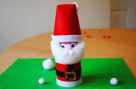 How To Macke Santa Christmas Craft How To Make A Toilet Roll Santa