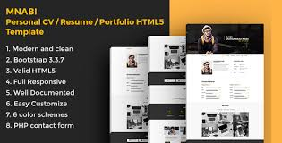Resume Portfolio Template Best of MNABI Personal CVResume Portfolio HTML224 Template By Webcode24u