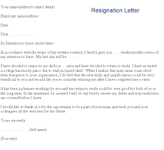 reason for leaving examples resignation letter image cvtips com