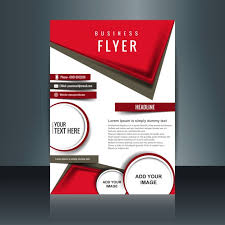 flyer design free vector flyers design modern brochure with red geometric shapes vector free