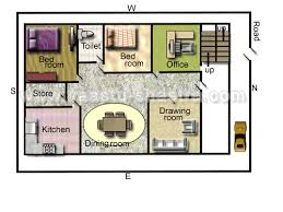 Vastu Model Floor Plans for North DirectionModel Floor Plan for North Direction