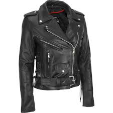 leather classic asymmetrical cycle jacket