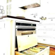 Microwave Drawer In Island  Kitchen With I83