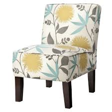 burke accent print slipper chair polly aegean