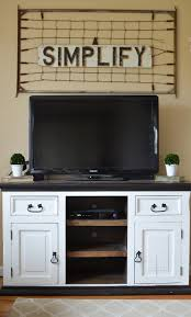 farmhouse style tv stand. Easy Farmhouse Style TV Stand Makeover On Tv