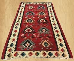 hand knotted vintage traditional turkish wool kilim area rug 5 x 3 ft 3946