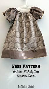 Peasant Dress Pattern Fascinating Free Toddler Peasant Dress Pattern The Stitching Scientist
