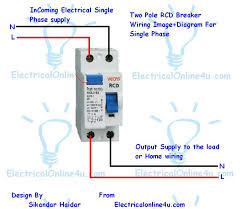how to do 2 pole fixed rcd wiring for protection rcd wiring