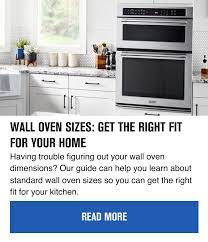 wall oven sizes get the right fit for