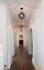 white hallway stairway lighting