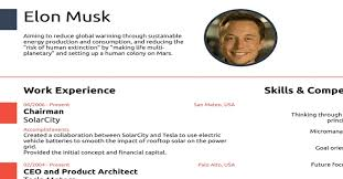 Elon Musk Resume The Resume Of Elon Musk Proves That You Really Don't Need To Use 15