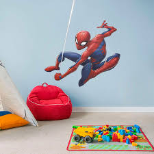 spider man swing life size officially licensed marvel removable wall decal fathead