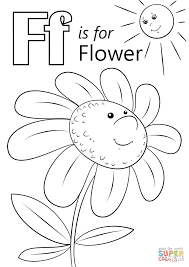 Small Picture Innovative Decoration Letter F Coloring Page Is For Flower Free