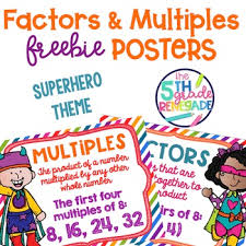 Factors And Multiples Poster Anchor Chart Freebie