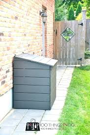 outdoor garbage can shed small size of trash can enclosure outdoor garbage bin shed plans free