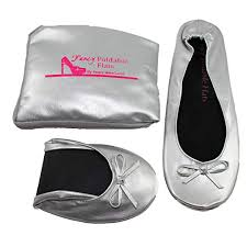 Foldable Ballet Flats With Expandable Tote Bag For Carrying High Heels Sizes 5 To 12 Large Size Shoes Portable Travel Fold Up Shoes Prom Folding Shoes