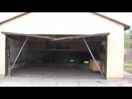 how to fix a sagging header on a garage fixinggarageheader