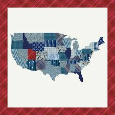 57 best PatternJam Quilt Top Shop images on Pinterest | Alaska ... & My State in America Quilt Top-cheater quilt top that is customizable! Adamdwight.com