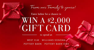 williams sonoma holiday win a