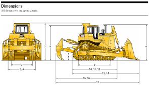 Dozer Size Chart Sariel Pl Caterpillar D9t