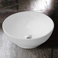 round countertop bathroom cloakroom basin sink ceramic white small compact bowl 380mm