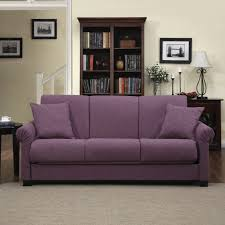 Handy Living Rio Convert-a-Couch Amethyst Purple Linen Futon Sofa Sleeper -  Free Shipping Today - Overstock.com - 15466718