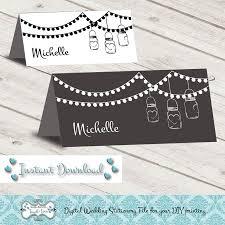 Digital Diy Editable Wedding Place Card Printable Microsoft Word