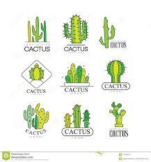 Free Cactus Logo Design Cactus Logo Design Set Desert Plant Green Badges Vector