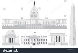 lincoln memorial building clipart. washington dc us capitol building monument jefferson and lincoln memorial illustration clipart