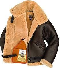 Raf Jacket Size Chart Cockpit Usa R A F Brown Sheepskin Leather Bomber Jacket At
