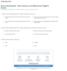 quiz worksheet peter quince in a midsummer night s dream print peter quince in a midsummer night s dream overview worksheet