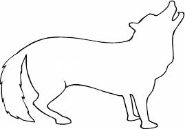Small Picture coyote outline coloring page super 834457 Coloring Pages for
