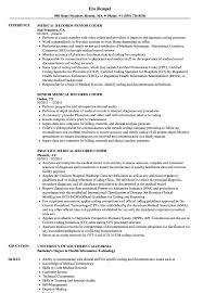 Coder Medical Records Resume Samples | Velvet Jobs