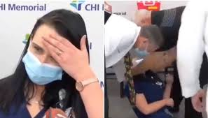Watch: Nurse Faints After Getting Pfizer-BioNTech's Covid-19 Vaccine In US
