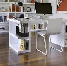 modern white solid wood computer desk