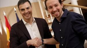 Resultado de imagen de Pedro Sanchez y pablo Iglesias