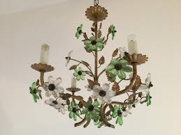 flower chandelier vintage french flower chandelier for at pamono mykltei
