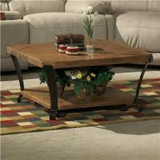 flexsteel kenwood square l table w casters