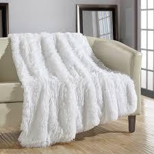 white throw blanket. Simple Blanket Chic Home Juneau Faux Fur White Throw Blanket Inside Overstockcom